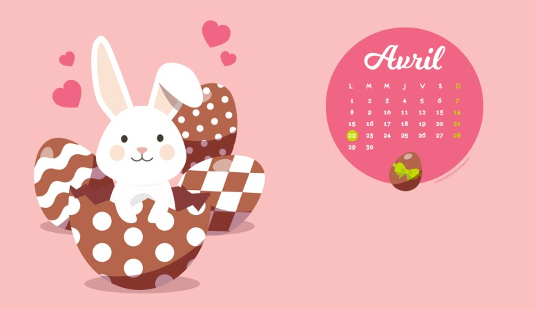 Calendrier d'Avril 2019 (Freebies & Printable)