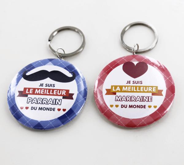 Porte-clé cadeau pour parrain ou marraine - Je suis le meilleur parrain/la meilleure marraine du monde !