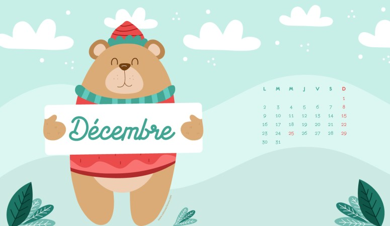 Calendrier de Décembre 2019 (Freebies & Printable)