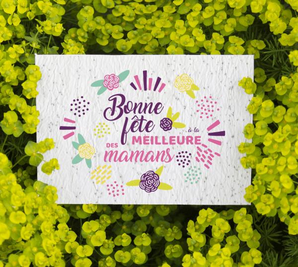 Carte à planter pour cadeau maman - Fête des mères