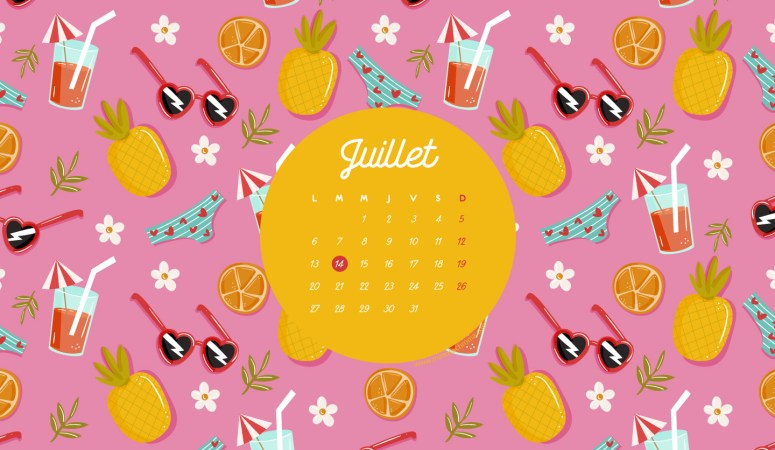 Calendrier de Juillet 2020 (Freebies & Printable)