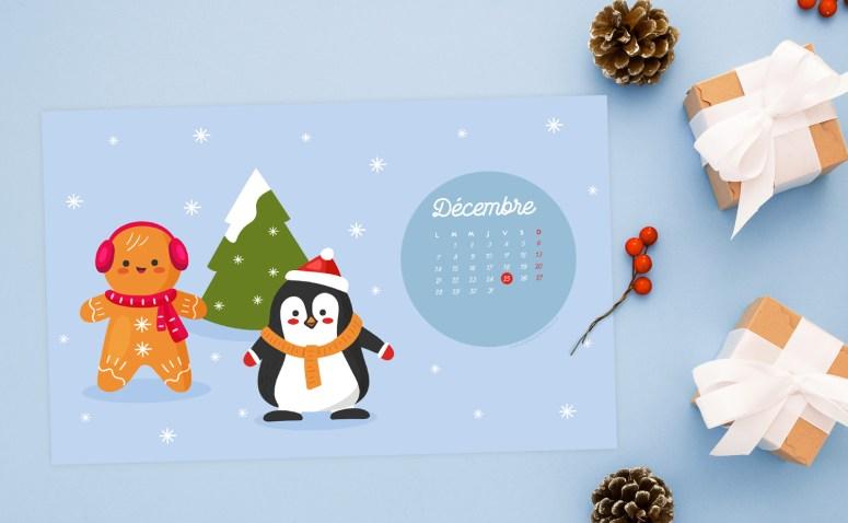 Calendrier de Décembre 2020 + coloriage à imprimer (Freebies & Printable)