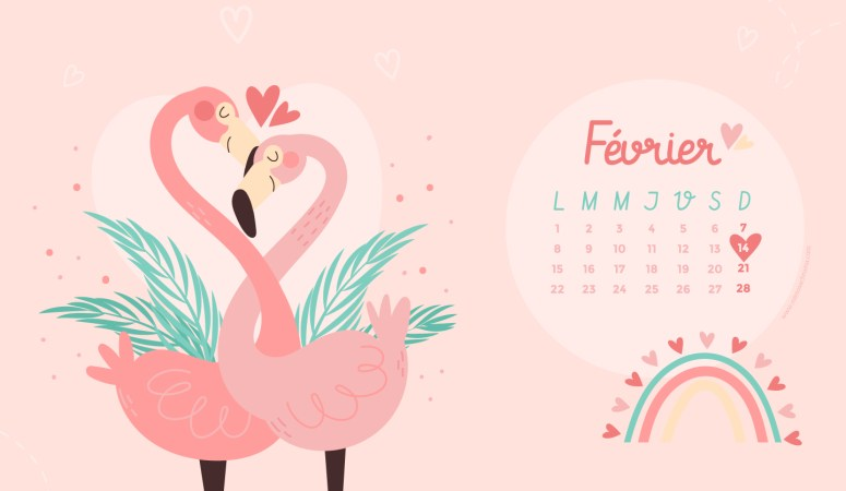 Calendrier de Février 2021 (Freebies & Printable)