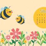 Calendrier de Mai 2021 (Freebies & Printable)
