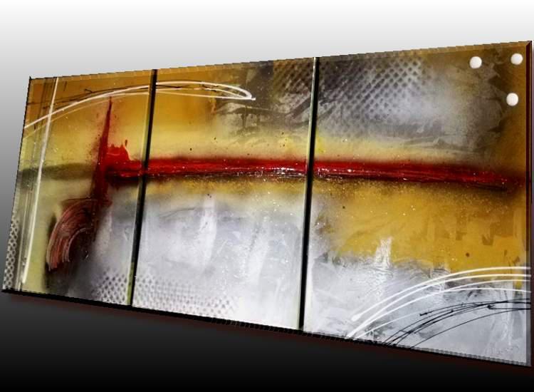 peintures abstraites jaune orange