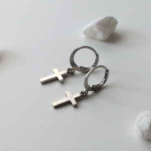 pendientes aros cruz giudecca