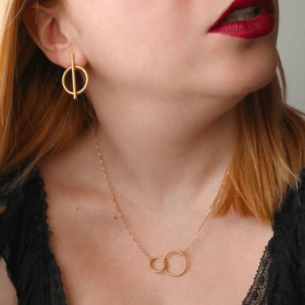 collar aros dorado