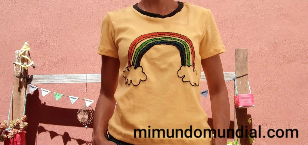 camiseta arcoiris DIY