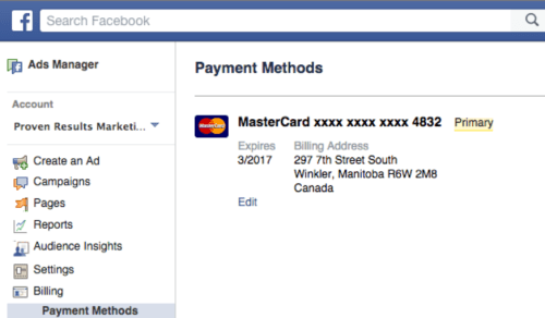 How to Make Payment on Facebook
