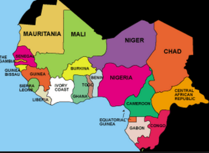 Map Of West Africa With Capitals.West Africa List Of West African Countries Currencies