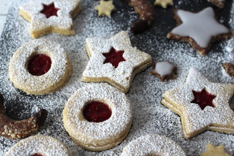 thumbprint cookies vegan gluten free spitzbuben
