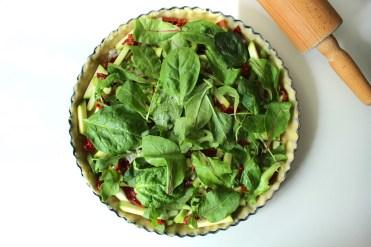Quiche mit Gemüse Zubereitung