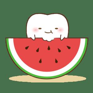 スイカを食べる歯