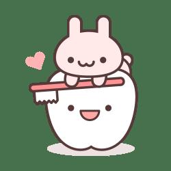 ミニウサギの歯磨き