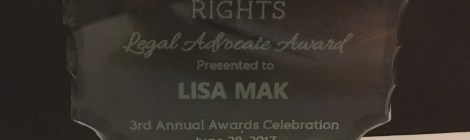Lisa Mak Receives Legal Advocate Award from the Center for Workers' Rights