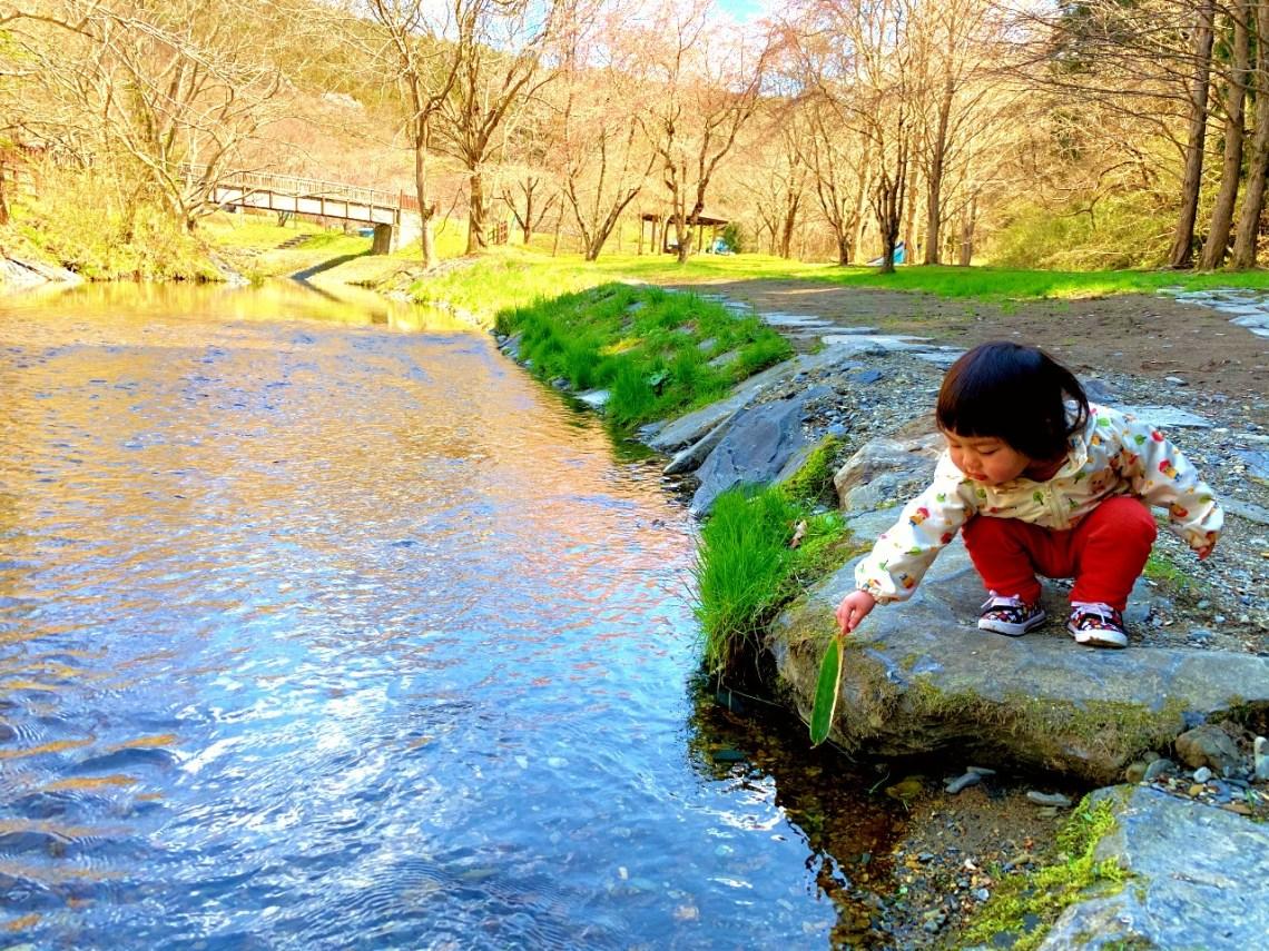 三滝堂ふれあい公園内を流れる川