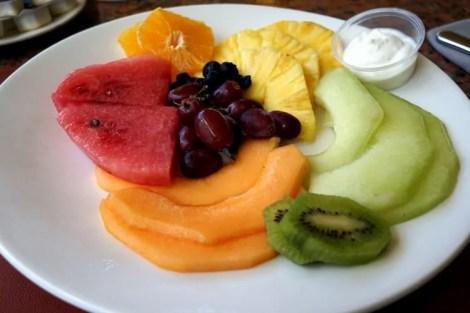 Fruit Plate at Mulligan's Golf Cafe at Divi Village Golf & Beach Resort