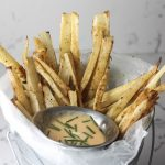 Yuca Fries with Sriracha Aioli