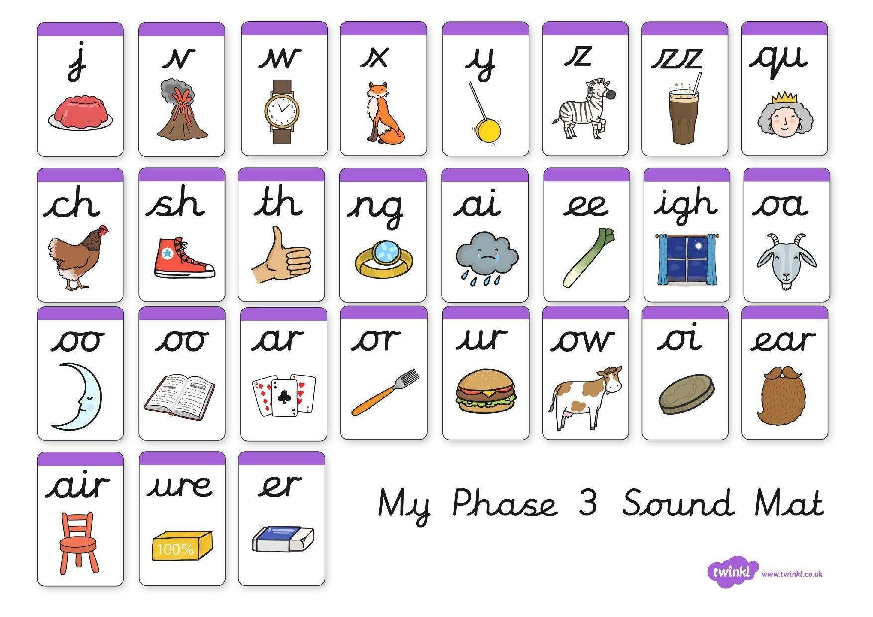 26 Phonics Sound Mat Phase 2
