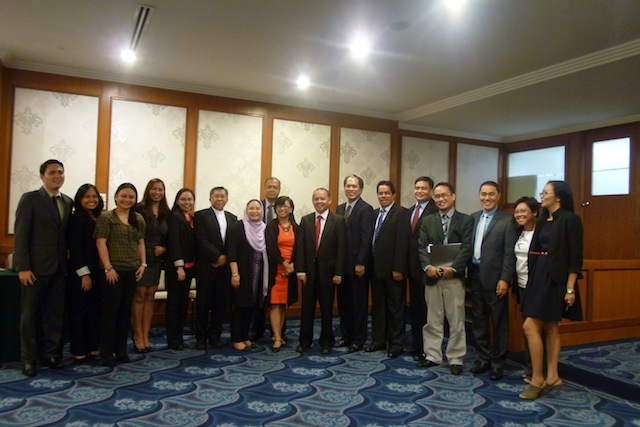 The GPH peace panel on December 6, 2011 in Kuala Lumpur, under Dean Marvic Leonen. Prof. Miriam Coronel-Ferrer would take over as chair exactly  a year later. Today, the panel is dominated by women.  File photo by Carolyn O. Arguillas / MindaNews
