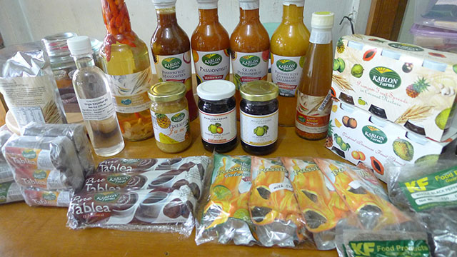 The different products of Kablon Farm Foods Corp. MindaNews photo by Bong S. Sarmiento