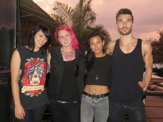 (L-R) drummer Astrid Holz, vocalist Jess Cooper, guitarist Kat Ayala, and bassist Jeremy Goldfinch