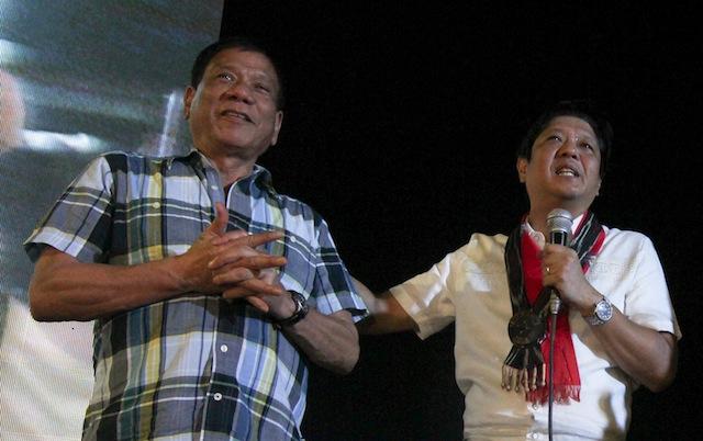 Marcos thanks Duterte for father's hero's burial and no Cabinet