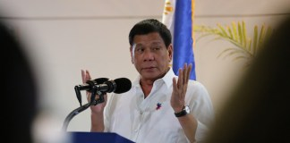 HE'S JUST A MAN. President Rodrigo Roa Duterte says in his speech at the Francisco Bangoy International Airport in Davao City on November 23, 2016 that he understands the burden placed upon the shoulders of Philippine National Police (PNP) Director General Ronald dela Rosa who was brought to tears after the credibility of the police force was questioned during a Senate hearing. KING RODRIGUEZ/Presidential Photo