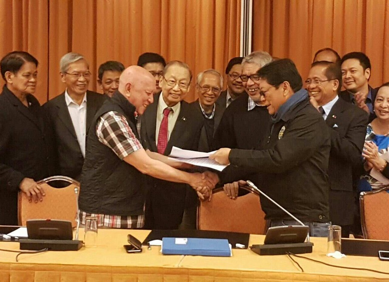 Gov't. NDF sign interim joint ceasefire agrement