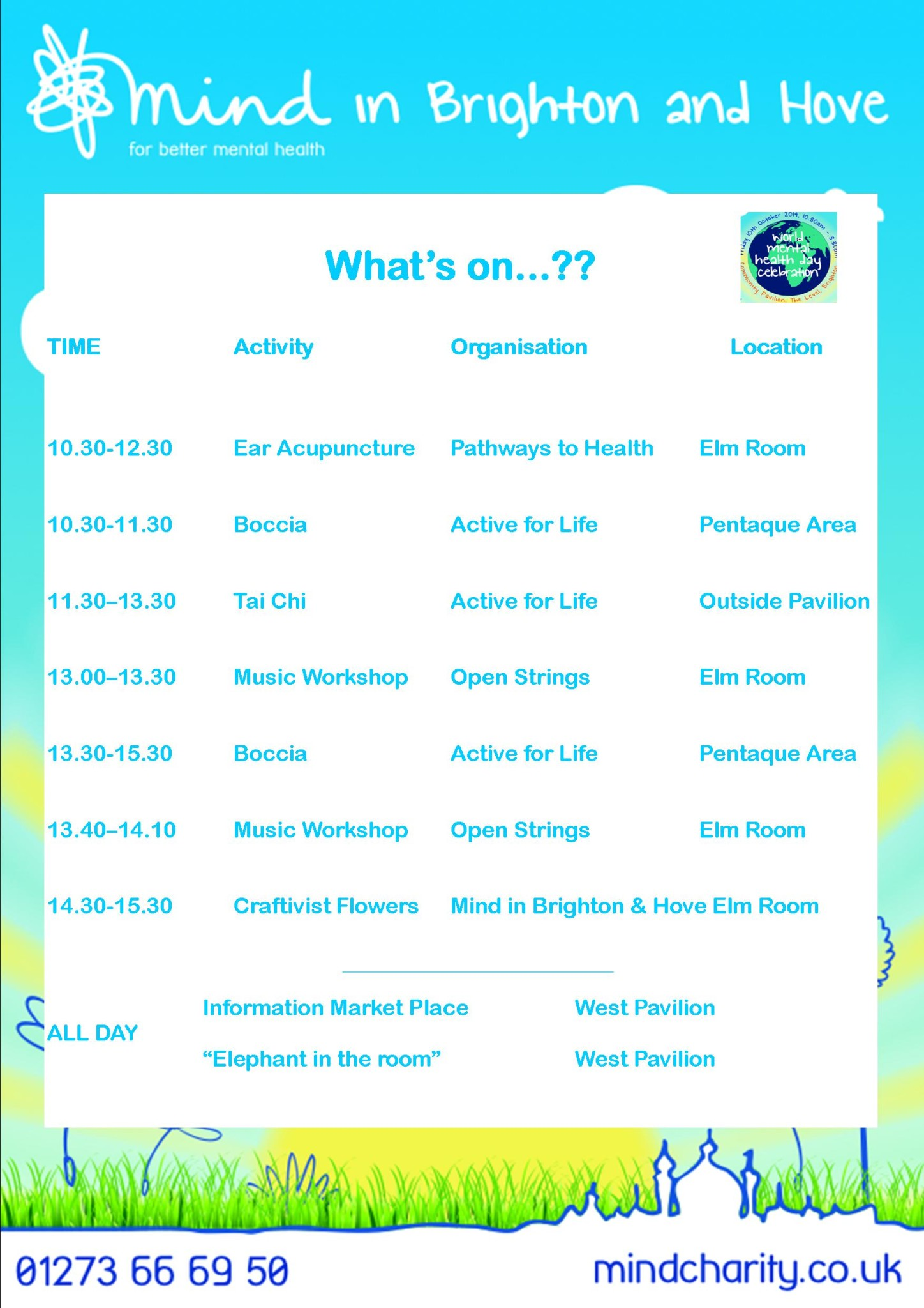 Free activities for tomorrows event World Mental Health ...