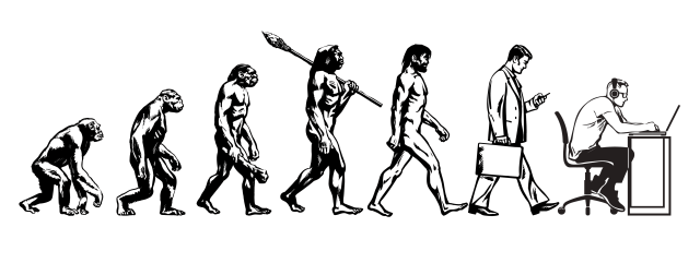 The evolution of man to a computer operator