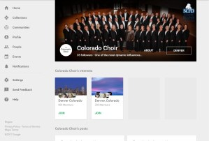 Colorado Choir Google+ page