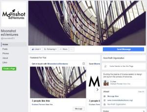 Moonshot edVentures Facebook page