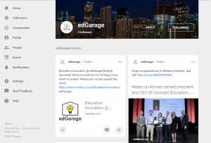 edGarage Google+ page