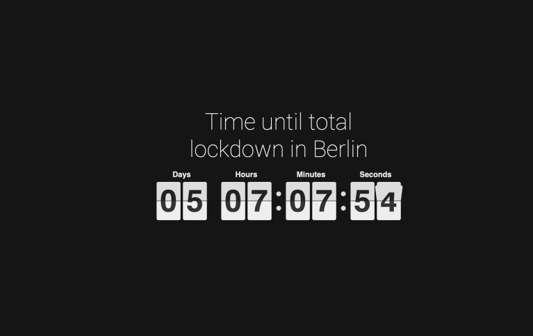 lockdown time until total lockdown in Berlin