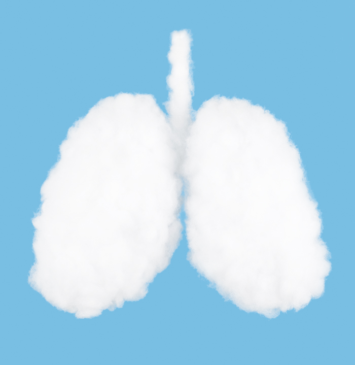 illustration of blue lungs