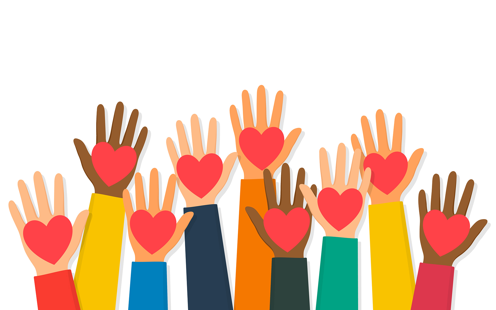 Savor Your Values: Finding Strength In Compassion. Hands holding hearts image