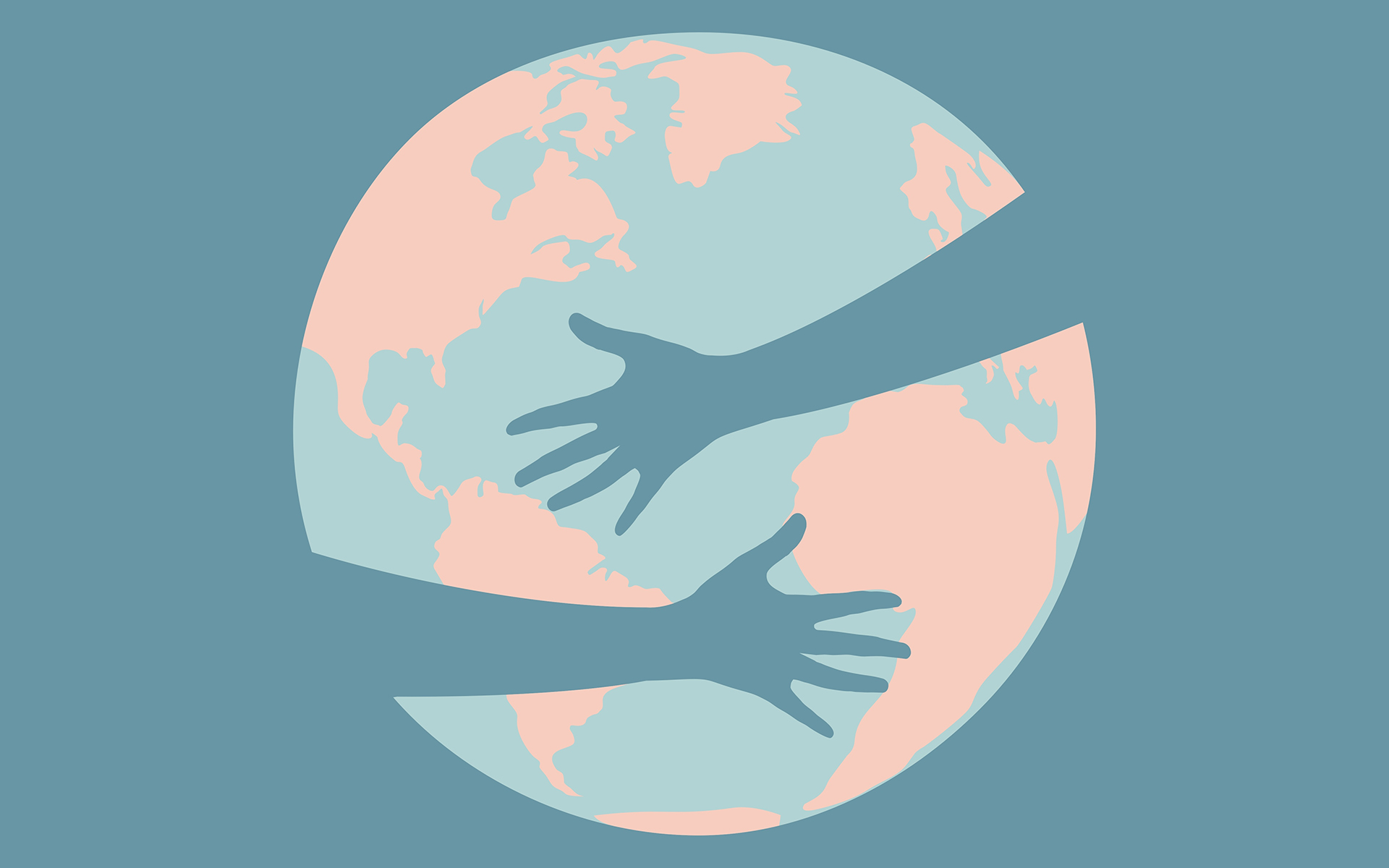 How Your Mindfulness Practice Can Help Support the World Right Now - Hands hug the planet illustration
