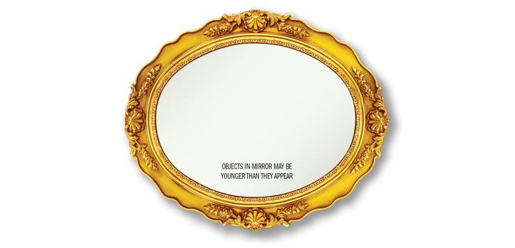 mirror that reads