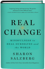 Book cover of Real Change, by Sharon Salzberg