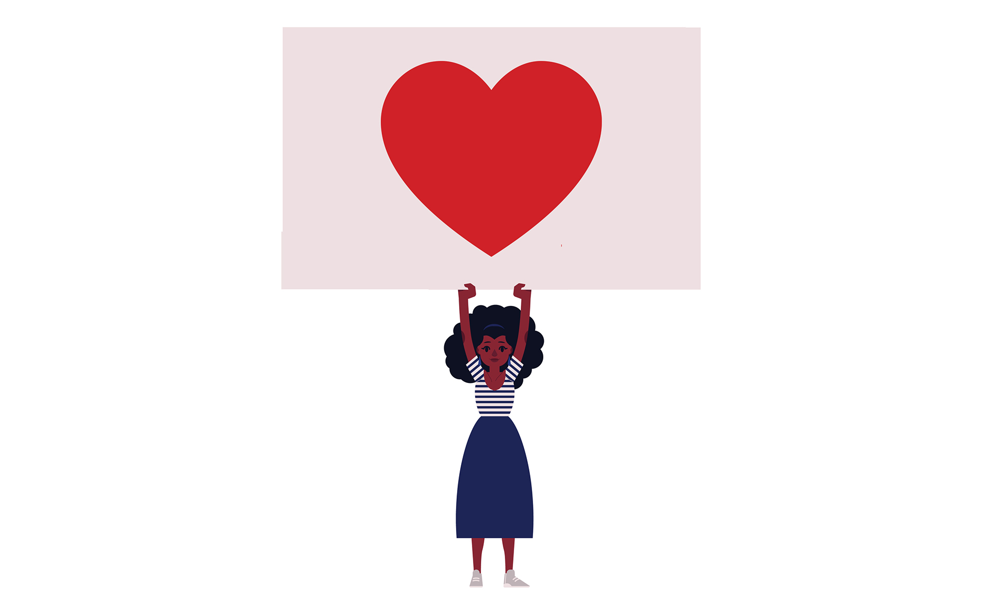 woman with heart image