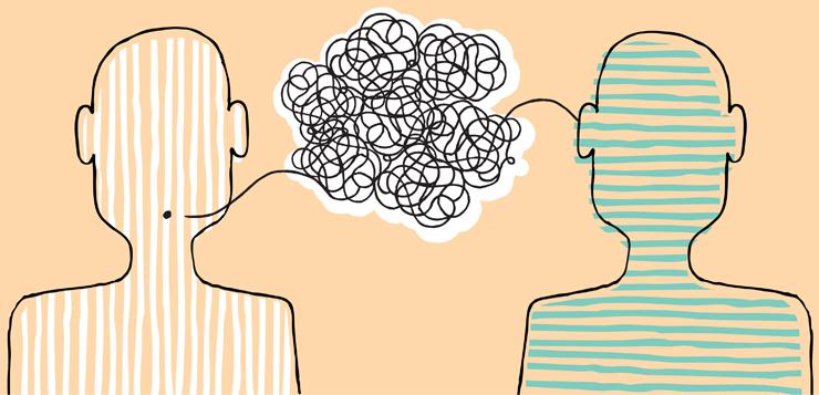 illustration people talking
