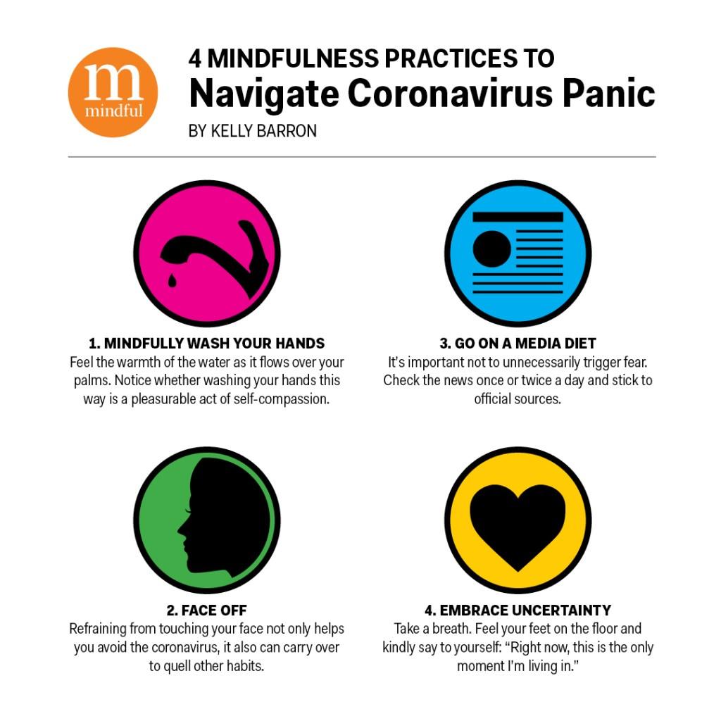 4 Mindfulness Practices to Navigate Coronavirus Panic - Kelly Barron