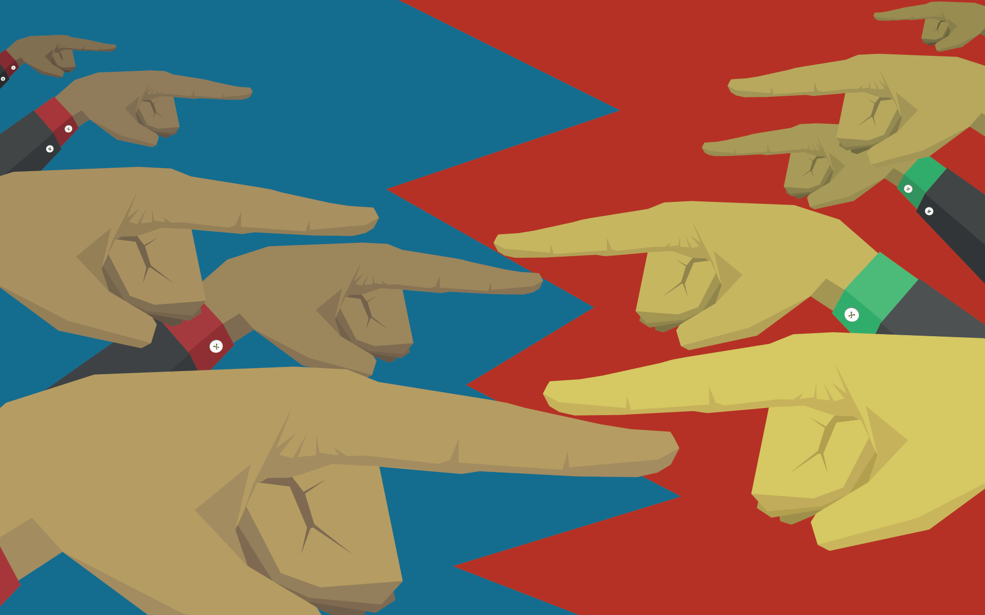 fingers pointing