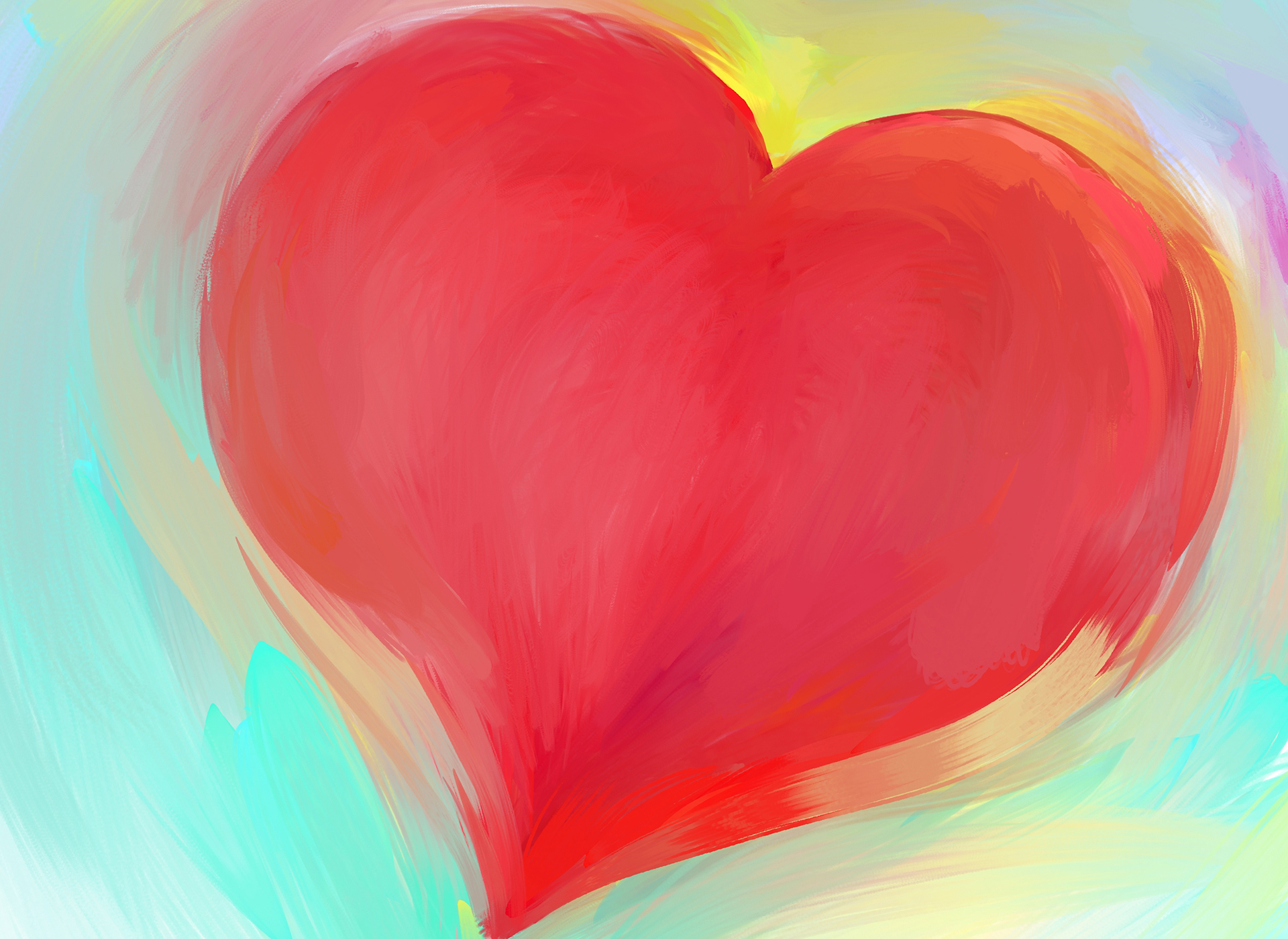 How do you show yourself self-kindness? - red heart background design