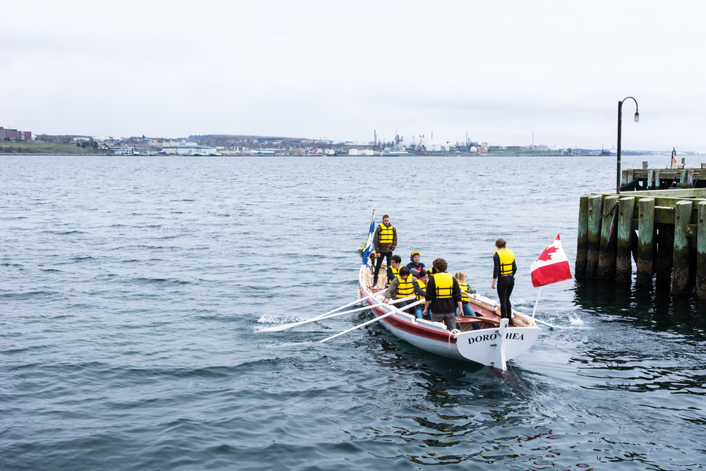 Students sailing in Halifax, Nova Scotia, Canada