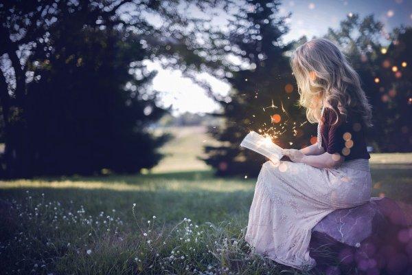 book, girl, magic
