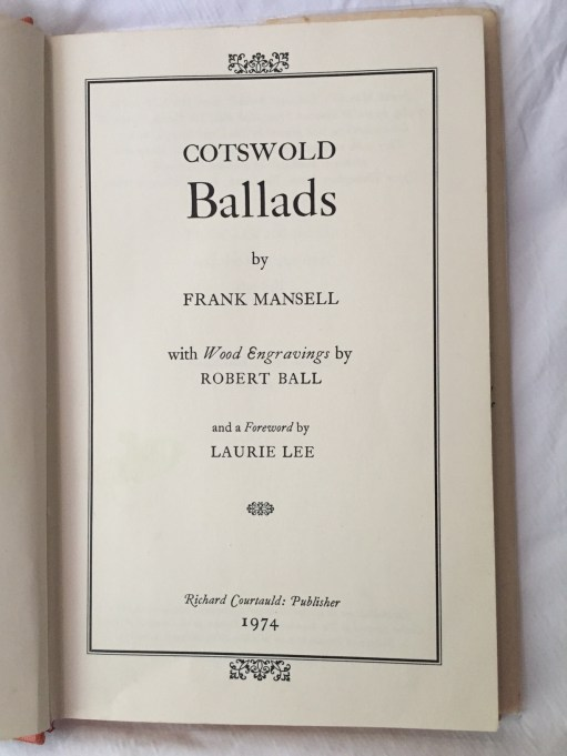 Frank Mansell - Cotswold Ballads