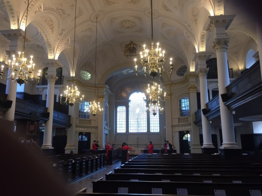 Joe's Story: Inside St Martin in the Fields.