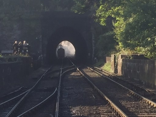 North Yorkshire Moors Railway - NYMR: A glimpse through the tunnel to the magic of the engine sheds.